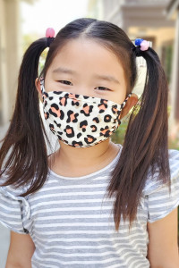 S6-8-2-ARFM7002K-RAP021-LEO-IVORY-CORAL LEOPARD PRINTED REUSABLE FACE MASK FOR KIDS/12PCS **Size not intended for kids 2 years old and below**