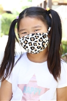 S8-4-2-ARFM7002K-RAP021-LEO-IVKH- LEOPARD PRINTED REUSABLE FACE MASK FOR KIDS/12PCS **Size not intended for kids 2 years old and below**