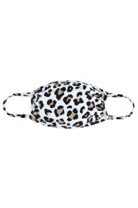 A3-3-1-ARFM7002K-RAP022-IV IVORY LEOPARD PRINT REUSABLE FACE MASKS FOR KIDS/12PCS    **Not intended for kids 2 years old and below**