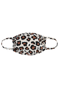 A3-3-1-ARFM7002K-RAP022-KH KHAKI LEOPARD PRINT REUSABLE FACE MASKS FOR KIDS/12PCS    **Not intended for kids 2 years old and below**
