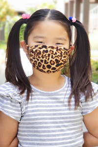 SA4-1-2-ARFM7002K-RAP061-ST STONE LEOPARD SKIN PRINT REUSABLE FACE MASKS FOR KIDS/12PCS    **Not intended for kids 2 years old and below**