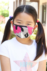 S6-8-3-ARFM7002K-RCM010-FU FUCHSIA CAMOUFLAGE REUSABLE FACE MASKS FOR KIDS/12PCS **Size not intended for kids 2 years old and below**