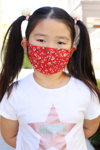 S4-6-1-ARFM7002K-RFL036-CHR-WIN-IV CHERRY WINE FLORAL REUSABLE FACE MASK FOR KIDS/12PCS ** Not intended for kids 2 years old and below**