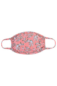 S6-8-3-ARFM7002K-RFL045-PEACH FLORAL REUSABLE FACE MASK FOR KIDS/12PCS **Size not intended for kids 2 years old and below**