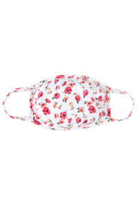 S3-4-2-ARFM7002K-RFL048-IV IVORY FLORAL REUSABLE FACE MASKS FOR KIDS/12PCS    **Not intended for kids 2 years old and below**