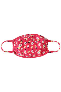 A3-3-2-ARFM7002K-RFL048-RD RED FLORAL REUSABLE FACE MASKS FOR KIDS/12PCS    **Not intended for kids 2 years old and below**