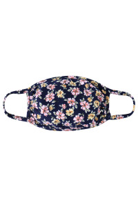 A3-3-1-ARFM7002K-RFL049-NV NAVY FLORAL REUSABLE FACE MASKS FOR KIDS/12PCS    **Not intended for kids 2 years old and below**