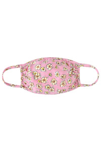A3-3-1-ARFM7002K-RFL049-RO ROSE FLORAL REUSABLE FACE MASKS FOR KIDS/12PCS    **Not intended for kids 2 years old and below**