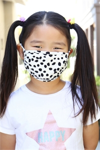 S8-4-2-ARFM7002K-RPR019-IVORY- DALMATIAN PRINTED REUSABLE FACE MASK FOR KIDS/12PCS **Size not intended for kids 2 years old and below**