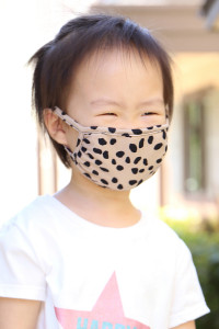 SA3-3-2-ARFM7002K-RPR019-KH KHAKI DALMATIAN REUSABLE FACE MASK FOR KIDS/12PCS **Size not intended for kids 2 years old and below**