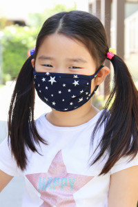 A3-3-2-ARFM7002K-RPR028-NV NAVY STARS PRINT REUSABLE FACE MASKS FOR KIDS/12PCS    **Not intended for kids 2 years old and below**