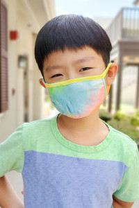 A3-3-3-ARFM7002K-RTD001-BLTD BLUE TIE DYE  REUSABLE FACE MASK FOR KIDS/12PCS    **Not intended for kids 2 years old and below**