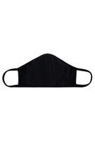 S8-5-3-ARFM8001-CT-BLACK PLAIN REUSABLE FACE MASK FOR ADULTS WITH FILTER POCKET/12PCS