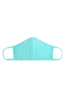 S8-7-4-RFM8001-CT-DMN-DARK MINT PLAIN REUSABLE FACE MASK FOR ADULTS WITH FILTER POCKET/12PCS