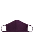 S8-6-3-RFM8001-CT-EGPLNT-EGGPLANT PLAIN REUSABLE FACE MASK FOR ADULTS WITH FILTER POCKET/12PCS
