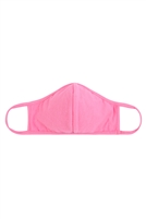 S8-7-1-RFM8001-CT-HPK-HOT PINK PLAIN REUSABLE FACE MASK FOR ADULTS WITH FILTER POCKET/12PCS