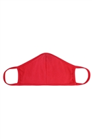 S8-7-4-RFM8001-CT-RD-RED PLAIN REUSABLE FACE MASK FOR ADULTS WITH FILTER POCKET/12PCS