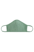 S8-7-4-RFM8001-CT-SG-SAGE PLAIN REUSABLE FACE MASK FOR ADULTS WITH FILTER POCKET/12PCS