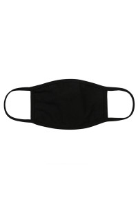 S8-6-1-ARFM8002-CT-BLACK PLAIN REUSABLE FACE MASK FOR ADULTS WITH FILTER POCKET/12PCS