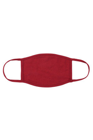 S8-5-2-ARFM8002-CT-BU BURGUNDY CLOTH FACE MASK FOR ADULTS WITH FILTER POCKET/12PCS