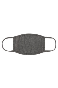 S4-7-2-ARFM8002-CT-CHAR2TN CHARCOAL PLAIN CLOTH FACE MASK FOR ADULTS WITH FILTER POCKET/12PCS
