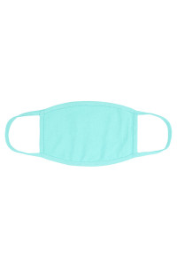 S8-5-2-ARFM8002-CT-DMN DARK MINT PLAIN CLOTH FACE MASK FOR ADULTS WITH FILTER POCKET/12PCS