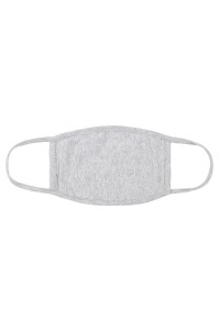 S5-7-1-ARFM8002-CT-HGY HEATHER GREY CLOTH FACE MASK FOR ADULTS WITH FILTER POCKET/12PCS