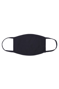 S5-7-1-ARFM8002-CT-NV NAVY PLAIN CLOTH FACE MASK FOR ADULTS WITH FILTER POCKET/12PCS