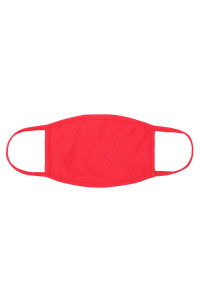 S4-7-2-ARFM8002-CT-RD RED MUSTARD PLAIN CLOTH FACE MASK FOR ADULTS WITH FILTER POCKET/12PCS