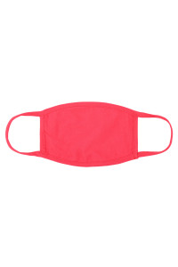 S4-7-2-ARFM8002-CT-SCO SUPER CORAL PLAIN CLOTH FACE MASK FOR ADULTS WITH FILTER POCKET/12PCS