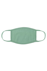 S4-7-2-ARFM8002-CT-SG SAGE PLAIN CLOTH FACE MASK FOR ADULTS WITH FILTER POCKET/12PCS