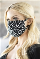 S4-9-3-RFM8002-RAP074-BK-BLACK DALMATIAN REUSABLE FACE MASK FOR ADULT/12PCS