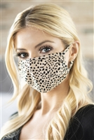 SA3-7-2-RFM8002-RAP074-KHAKI- DALMATIAN PRINT REUSABLE FACE MASK FOR ADULTS WITH FILTER POCKET/12PCS