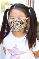 S4-9-3-RFM9002K-RAP074-KH-KHAKI DALMATIAN REUSABLE FACE MASK FOR KIDS WITH FILTER POCKET/12PCS