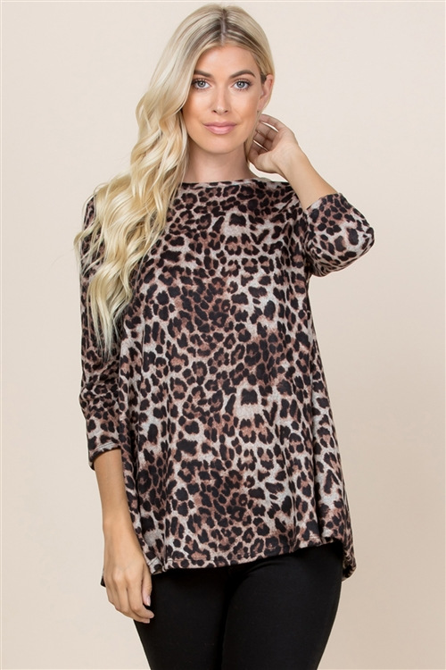 S10-13-2-RFT2002QS-RAP002-BWN-1 - LEOPARD SWING TOP- GREY 0-0-3-3