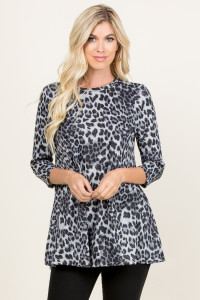 S8-5-1-RFT2002QS-RAP002-GY GRAY LEOPARD SWING TOP 1-2-2-2