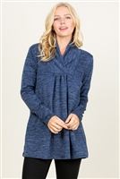 S10-13-4-RFT2012LS-RSW004-NV-1 - SWEATER BABYDOLL TUNIC TOP- NAVY 2-2-3