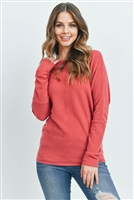 S14-9-2-RFT2026-BHC-RST-1 - LONG SLEEVE BRUSHED HACCI DOLMAN TOP- RUST0-2-2-2