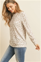S6-1-3-RFT2052-RAP105-SND - LEOPARD PRINT LONG SLEEVE TOP - SAND 1-2-2-2