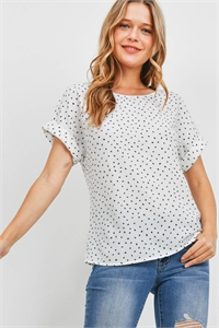 S10-14-4-RFT2095-RPR014-IV - CUFF SLEEVE PRINT BLOUSE- IVORY 1-2-2-2