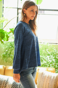 S10-18-2-RFT2236-RSW010-DPBL DEEP BLUE ROUND NECK HACCI SWEATER 1-2-2-2