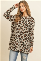 S10-17-3/S9-4-5-RFT2388-RAP126-TP TAUPE LONG SLEEVED LEOPARD OVERSIZED SWEATSHIRT 1-2-2-2