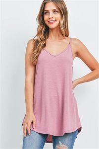 S6-1-3-RT-1675-LTRS - FRONT AND BACK REVERSIBLE SPAGHETTI CAMI- LIGHT ROSE 1-1-2-2