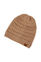 S2-10-2-TC4605TP - KNITTED BEANIE TAUPE/6PCS