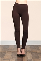 S14-2-2-TX700-CF COFFEE SOFRA SEAMLESS FOOTLESS FLEECE LEGGINGS/6PCS