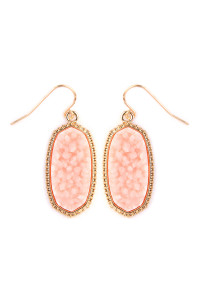 S4-5-2-AVE1549GDLPK-DRUZY SMALL DROP EARRINGS - LIGHT PINK/6PCS