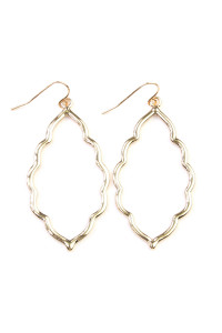 SA4-3-3-AVE2055GD GOLD MOROCCAN CUTOUT EARRINGS/6PAIRS