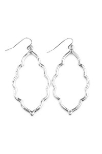 SA4-3-3-AVE2055RH SILVER MOROCCAN CUTOUT EARRINGS/6PAIRS