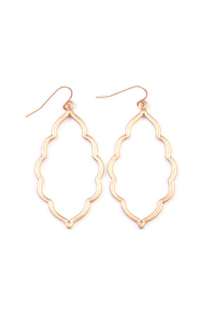 S6-4-3-AVE2055WG MATTE GOLD MOROCCAN CUTOUT EARRINGS/6PAIRS