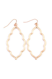 SA4-3-3-AVE2055WRG MATTE ROSE GOLD MOROCCAN CUTOUT EARRINGS/6PAIRS